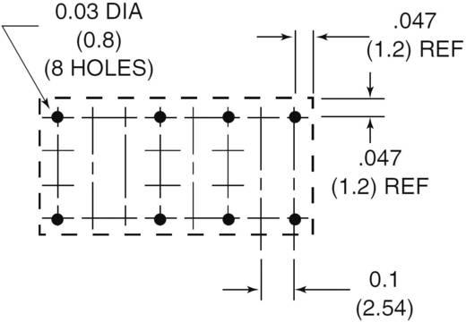 Szubminiatűr DIP relé 12 V/DC 2 váltó, 1 A 24 V/DC/120 V/AC, Zettler Electronics AZ822-2C-12DE