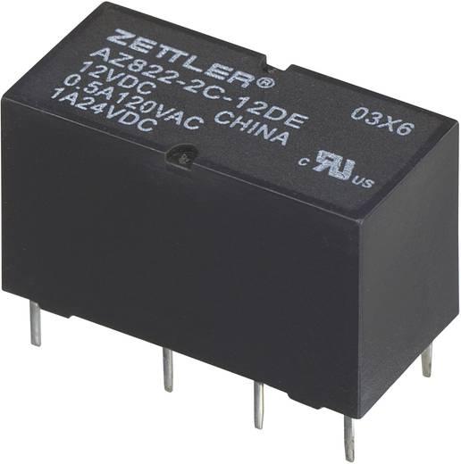 Szubminiatűr DIP relé 3 V/DC 2 váltó, 1 A 24 V/DC/120 V/AC, Zettler Electronics AZ822-2C-3DE