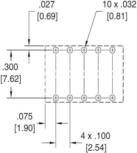 Polarizált miniatűr relé 12 V/DC 2 váltó, 1 A 30 V/DC/125 V/AC, Zettler Electronics AZ850-12