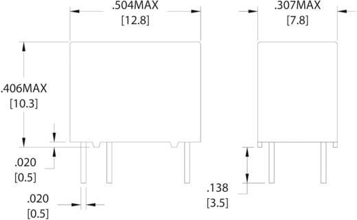 Szubminiatűr nyák relé 24 V/DC 1 váltó, 1 A, 60 V/DC/125 V/AC, Zettler Electronics AZ9571-1C-24DSE