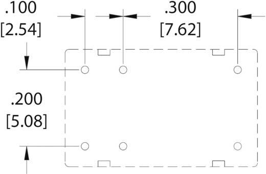Szubminiatűr nyák relé 3 V/DC 1 váltó, 1 A, 60 V/DC/125 V/AC, Zettler Electronics AZ9571-1C-3DSE