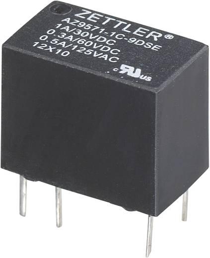 Szubminiatűr nyák relé 12 V/DC 1 váltó, 1 A, 60 V/DC/125 V/AC 30 V/DC/1 A, 60 V/DC/0,3 A, 125 V/AC/0,5 A, Zettler Electronics AZ9571-1C-12DSE