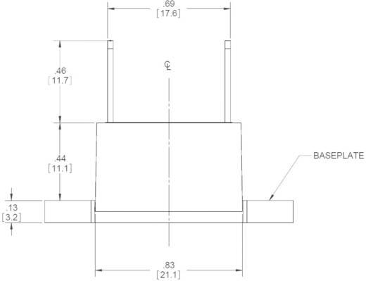 Elektronikus teljesítmény relé 5 A 24-280 V/AC, Crydom EL240A5-12