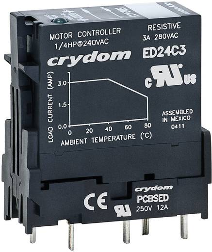 Dugaszolható félvezető relék 3 A 24-280 V/AC, Crydom ED24D3