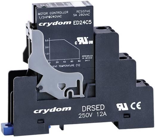 DIN sínes aljzat ED sorozatú félvezető relékhez 12 A 250 V DC/AC, Crydom DRSED