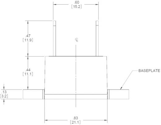 Elektronikus teljesítmény relé 5 A 3-100 V/DC, Crydom EL100D5-24