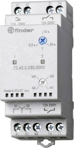 Szivattyú átkapcsoló relé, 110 - 240 V DC/AC, 2 független záró, Finder 72.42.0.230.0000