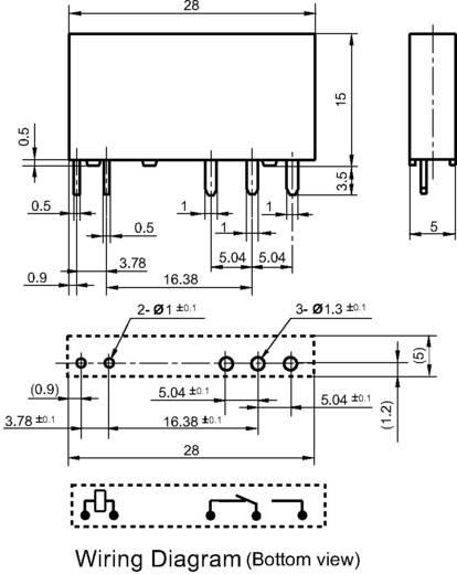 Hálózati relé 12 V/DC 1 váltó, 6 A 30 V/DC/ 277 V/AC 1500 VA/ 180 W, Hongfa HF41F/012-ZST