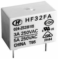 Hálózati relé 5 V/DC 1 záró, 5 A 30 V/DC/250 V/AC 1250 VA/150 W, Hongfa HF32FA/005-HSL2 (610) Hongfa