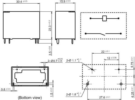 Napelemes teljesítmény relé 12 V/DC 1 záró, 31 A 277 V/AC 7750 VA, Hongfa HF161F-W/012-HT