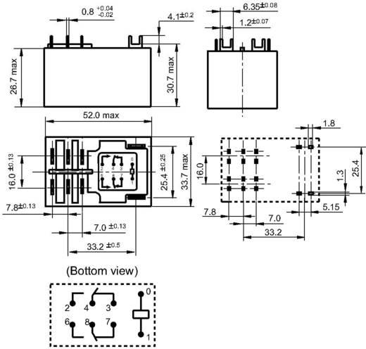 Teljesítmény relé 24 V/DC 2 váltó 30 A 277 V/AC 8310 VA, Hongfa HF92F-024D-2C11S