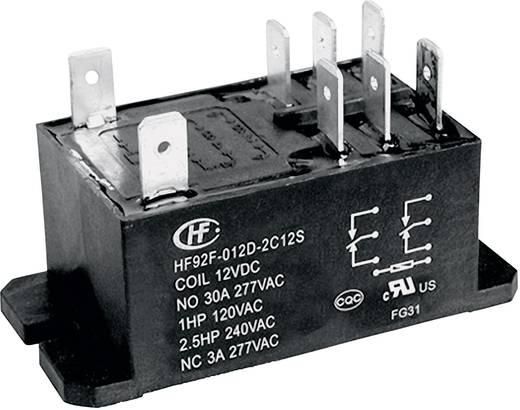 Teljesítmény relé 24 V/DC 2 váltó 30 A 277 V/AC 8310 VA, Hongfa HF92F-024D-2C21S