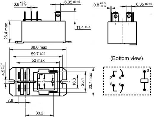 Teljesítmény relé 240 V/AC 2 záró 30 A 277 V/AC 8310 VA, Hongfa HF92F-240A5-2A21S