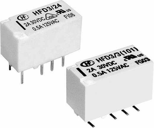 SMD jelző relé 5 V/DC 2 váltó, 2 A 220 V/DC/250 V/AC 10 mV/10 µA/ 62.5 VA/60 W, Hongfa HFD3/005S