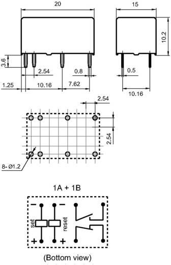 Miniatűr teljesítmény relé 12 V/DC 1 záró/1 nyitó 8 A 277 V/AC 2000 VA, Hongfa HFE7/012-1HDST-L2