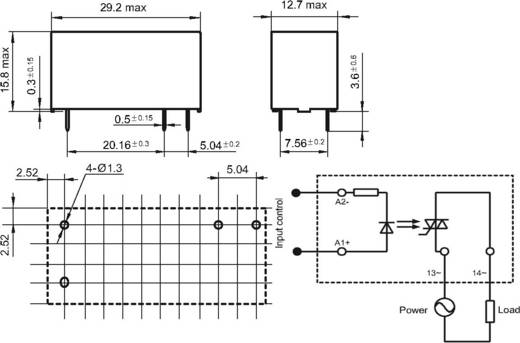 Elektronikus teljesítmény relé 0,02-5 A 0-28,8 V/DC, Hongfa HFS32D/24D-24D5M-NH