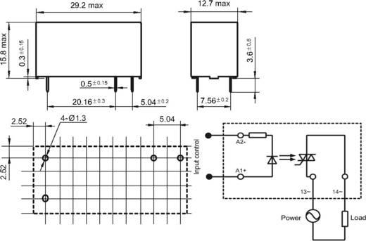 Elektronikus teljesítmény relé 0,1-2 A 48-440 V/AC, Hongfa HFS32/24D-240A2ZH