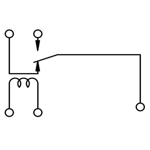 Jelző relé 24 V/DC 1 váltó, 3 A 125 V/AC 360 VA, Song Chuan 842A-1CS 24V DC