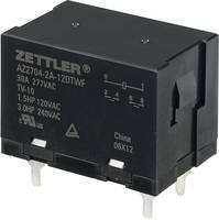 Nagyteljesítményű relé 12 V/DC, 2 záró 30 A 150 V/DC/440 V/AC 840 W/8310 VA Zettler Electronics AZ2704-2A-12DTWF (AZ2704-2A-12DTWF) Zettler Electronics