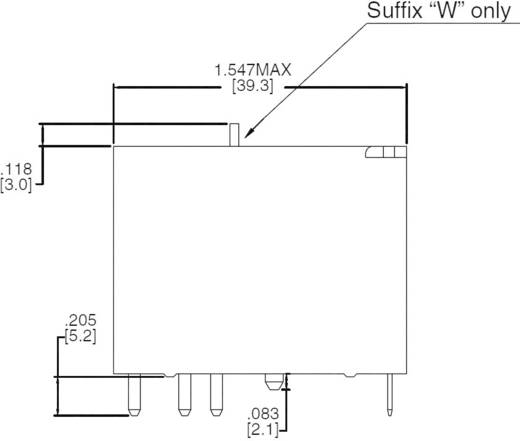 Bistabil nagyteljesítményű relé 12 V/DC 1 váltó, 50 A 440 V/AC 13850 VA, Zettler Electronics AZ2501P2-1C-12DK