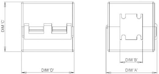 Osztott ferrit gyűrűmag, RKCF-06-A5