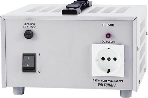 Leválasztó transzformátor 1500VA 230V/AC Voltcraft IT-1500