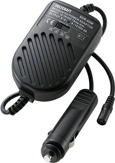 Autós tápegység, univerzális adapter 60W 1,5-12V 5A, Voltcraft SMP-60
