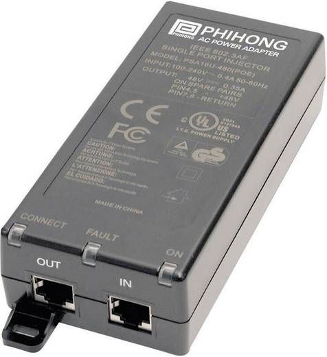 POE tápegység adapter 48 V/DC 350 mA 15.4 W Phihong 510893