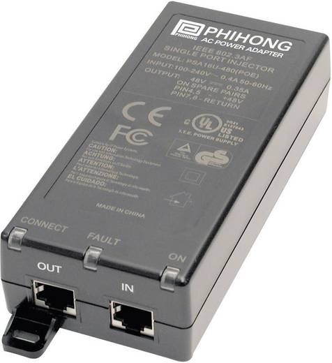POE tápegység adapter 56 V/DC 350 mA 19.6 W Phihong POE20U-560(G)-C