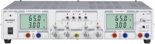 Kettős labortápegység lineáris, kapcsolóüzemű 0,1-65V/DC / 0-3A / 0,1-65V/DC 399W Voltcraft VSP 2653