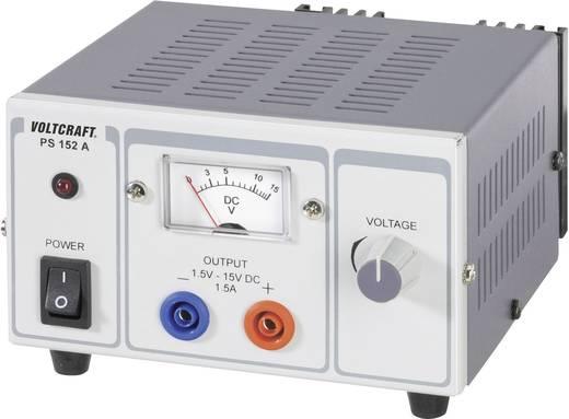 Lineáris labor tápegység 22,5W 1,5-15V 1,5A, Voltcraft PS-1152 A