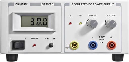 Szabályozható lineáris labortápegység 60W 0-30V 0-2A, Voltcraft PS-1302 D
