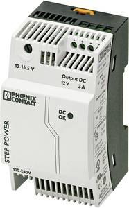 Tápegység Quint, Mini, Step a PHOENIX CONTACT-tól Step-PS/1AC/12DC/3 (2868570) Phoenix Contact
