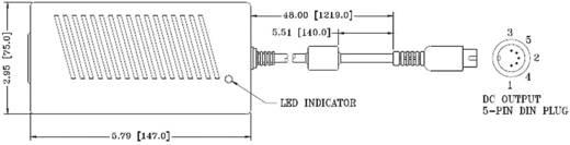 Hálózati adapter, fix feszültségű asztali tápegység, 5 pólusú DIN dugóval 12V/DC 3000mA 40W Protek PMP60-23-S