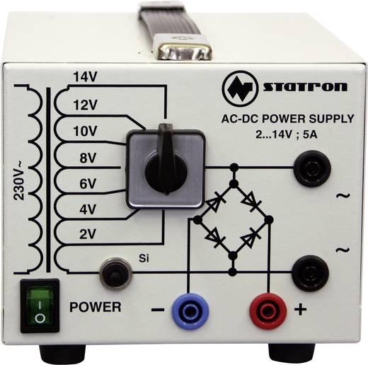 Állítható labortápegység, 2 - 14 V/AC 5 - 5 A 75 W, Statron 5359.3