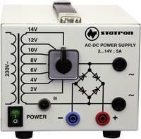 Labortápegység, szabályozható Statron 5359.3 2 - 14 V/AC 5 A 75 W Kimenetek száma 2 x Kalibrált ISO Statron