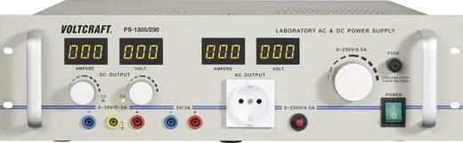 Lineáris labortápegység 0-30V/DC / 0-5A, 5V/DC / 3A 1290W Voltcraft PS-1305/230