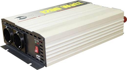 Szinuszos jellegű inverter, 1200 W, 12 V/DC (11 - 15 V) - 230 V/AC · 5 V/DC USB, e-ast HighPower HPL 1200-D-12