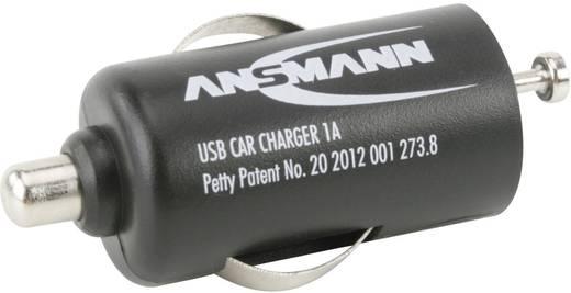 Ansmann USB-s autós töltő, 1A,USB-s töltő szivargyújtóhoz, 5 V/DC/1000 mA, 5 W