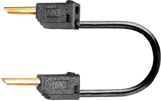 Mérőzsinór, mérővezeték 2db 2mm-es banándugóval 0.5 mm² PVC, 0.30m fekete MultiContact LK2-F