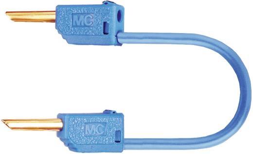 Mérőzsinór, mérővezeték 2db 2mm-es banándugóval 0.5 mm² PVC, 0.30m kék MultiContact LK2-F