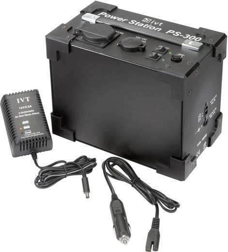 Szinuszos inverter/tápellátó állomás beépített akkuval 300 VA, 230 V/AC, 12 V/DC, IVT PS-300