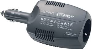 VOLTCRAFT PI 75-12 Inverter 75 W 12 V/DC - 230 V/AC Ventilátor nélküli VOLTCRAFT