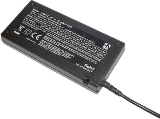 Univerzális hálózati adapter, asztali tápegység 12 - 24 V/DC 3700mA max.72W HN Power HNP72-Uni