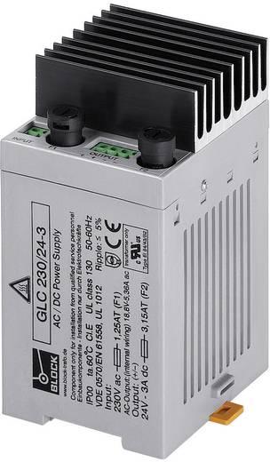 Beépíthető tápegység AC/DC 24 V/DC 3 A 72 W Block GLC 230/24-3