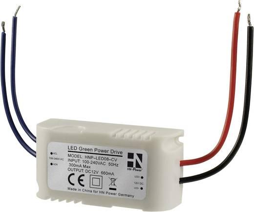 HN Power beépíthető LED tápegység, 12V/DC 660mA 8W, HNP-LED08-CV