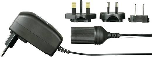 Hálózati adapter, fix feszültségű dugasztápegység szivargyújtó aljzattal 12V/DC 1000 mA 12W Voltcraft FPPS 12-12WPC