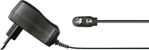 Hálózati adapter, fix feszültségű dugasztápegység, 9V-os elemcsatlakozóval 9 V/DC 400 mA 3.6 W Voltcraft FPPS 9-3.6W-CL