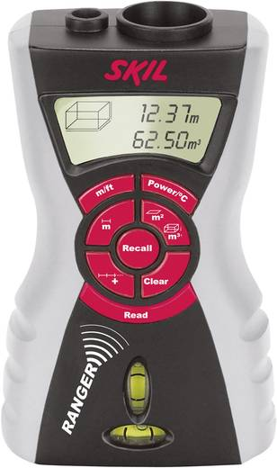 Ultrahangos távolságmérő lézeres célzóval, méréshatár 0,5 - 15 m, pontosság, ± 0,5 % / ± 1 digit , Skil 0520 AA