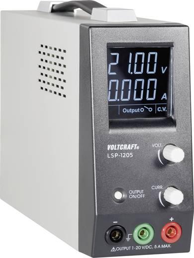 VOLTCRAFT LSP-1205 labortápegység, 1 - 20 V/DC / 0 - 5 A / / 100 W